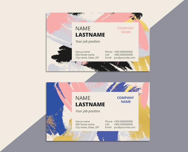 tarjetas de presentación llamativas