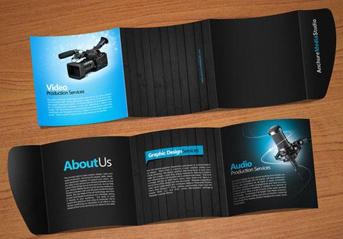 Folleto de folleto Folleto de Inspiración de diseño (64 ejemplos de folletos modernos)