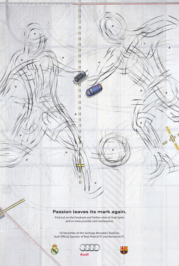 Audi-Passion-leaves-its-mark-again 500 Creative And Cool Advertisement Ideas