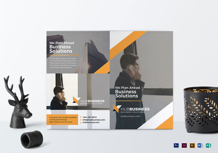 Bi-Fold-Business-Brochure-Template Folleto Inspiración de diseño (64 ejemplos de folletos modernos)