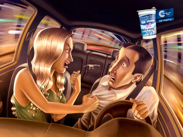 Car-Cleaning 500 Creative And Cool Advertisement Ideas