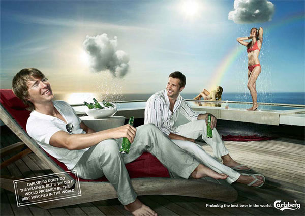 Carlsberg-Weather 500 Creative And Cool Advertisement Ideas