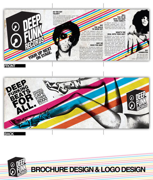 Deep_Funk_Records_Brochure_by_Jaan_Jaak Folleto de inspiración del diseño (64 ejemplos de folletos modernos)