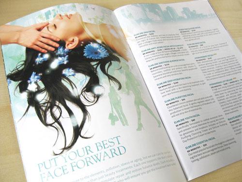 Elmwood-Spa Brochure Design Inspiration (64 ejemplos modernos de folletos)