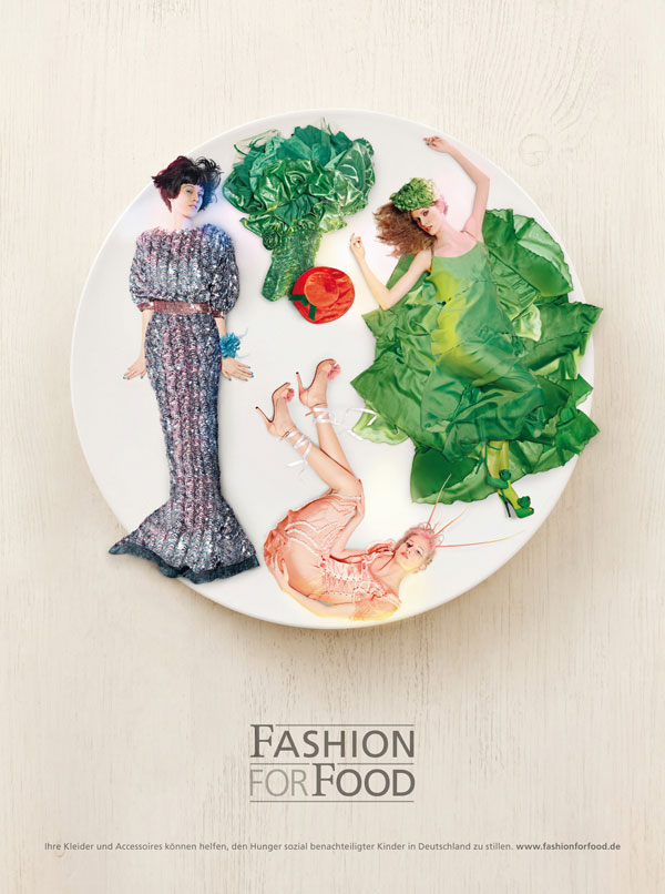 Fashion-for-Food 500 Creative And Cool Advertisement Ideas