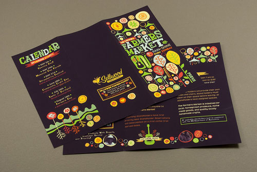 Graphic-Farmers-Market-Brochure Folleto Inspiration Design (64 ejemplos modernos de folletos)