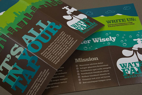 Graphic-Water-Company-Brochure Folleto Inspiration Design (64 ejemplos modernos de folletos)