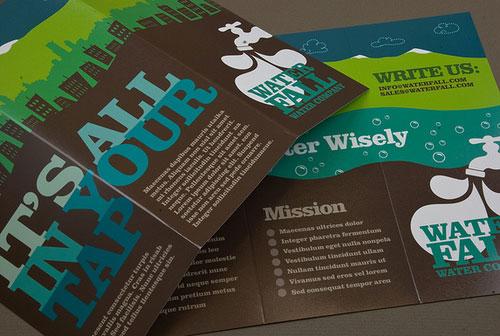 Graphic-Water-Company-Brochure Folleto Inspiration Design (64 ejemplos modernos de folletos)
