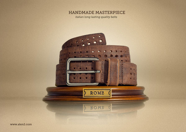 Handmade-Masterpiece.-Italian-long-lasting-quality-belts 500 Creative And Cool Advertisement Ideas