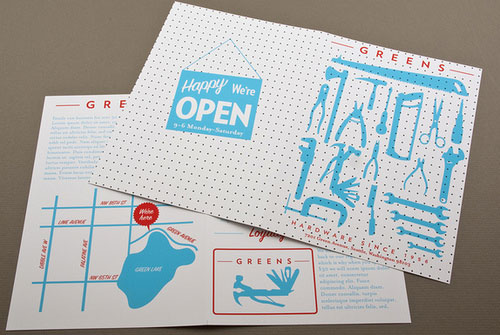 Hardware-Store-Brochure Brochure Design Inspiration (64 ejemplos modernos de folletos)