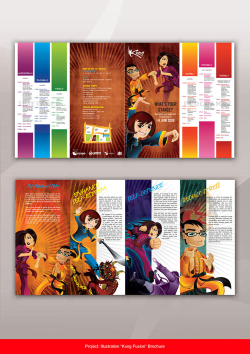 Kung_Fusion_Brochure_by_elmoyiling Folleto Inspiración de diseño (64 ejemplos modernos de folletos)