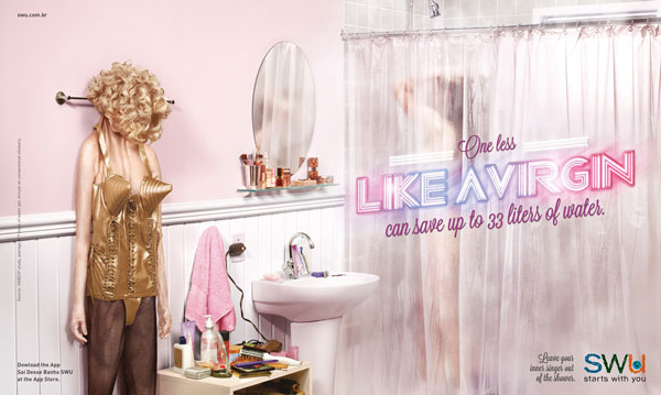 Leave-your-inner-singer-out-of-the-shower 500 Creative And Cool Advertisement Ideas
