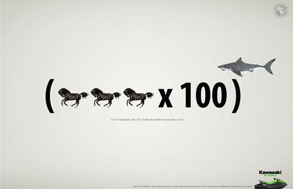 Ideas de publicidad New-Kawasaki-Ultra-300-Power-developed-for-the-sea: 500 anuncios creativos y geniales