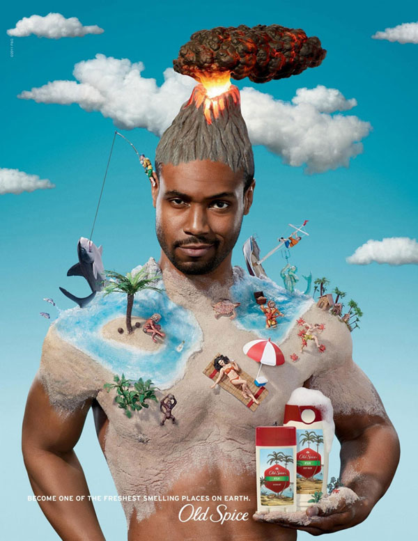 Old-Spice-Fiji 500 Creative And Cool Advertisement Ideas