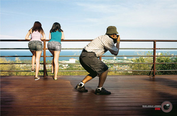 Omax-Wide-Angle-Lenses 500 Creative And Cool Advertisement Ideas