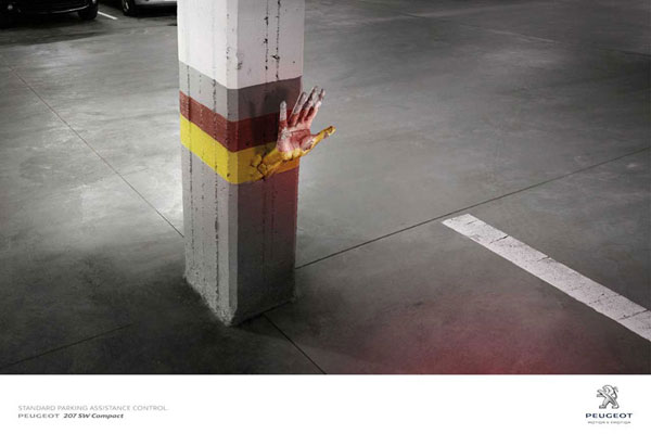 Peugeot-Standard-Parking-Assistance-Control 500 Creative And Cool Advertisement Ideas