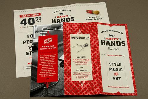 Retro-Barbershop-Brochure Brochure Design Inspiration (64 ejemplos modernos de folletos)