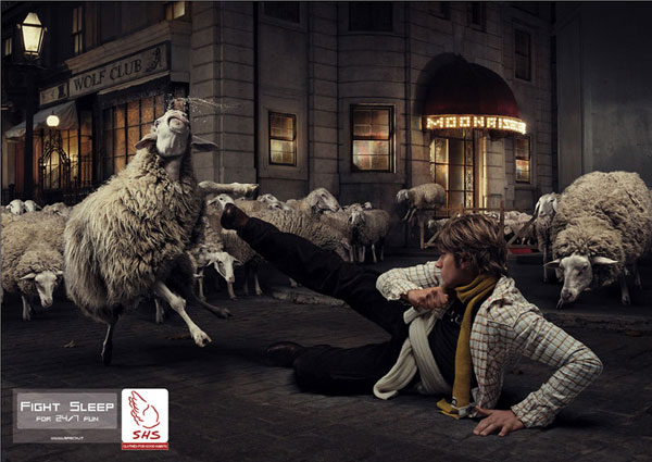 SHS-Fight-sleep 500 Creative And Cool Advertisement Ideas