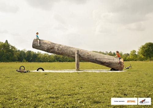Stihl-Think-bigger 500 Creative And Cool Advertisement Ideas