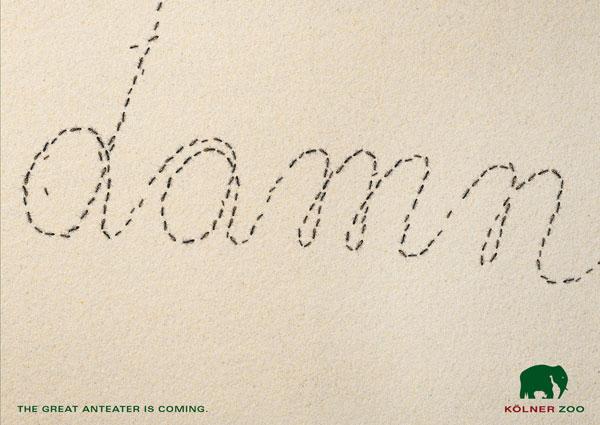 El gran oso hormiguero está anunciando Ideas publicitarias: 500 anuncios creativos y geniales