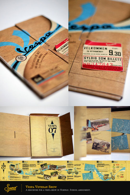Folleto de Vespa Folleto de Inspiración de diseño (64 ejemplos de folletos modernos)