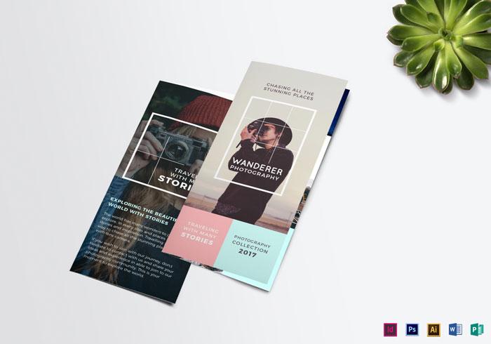 Wanderer-Photography-Brochure-Template Folleto Inspiración de diseño (64 ejemplos modernos de folletos)