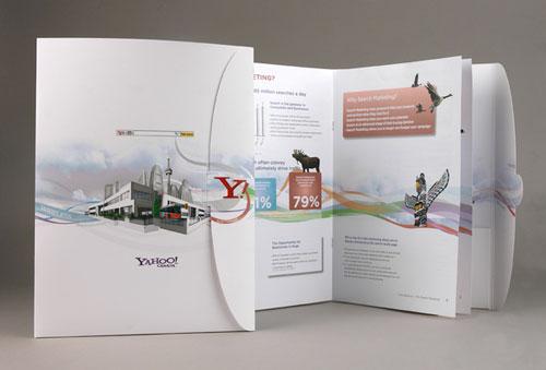 Folleto de búsqueda de marketing de Yahoo Inspiración de diseño de folleto (64 ejemplos de folletos modernos)