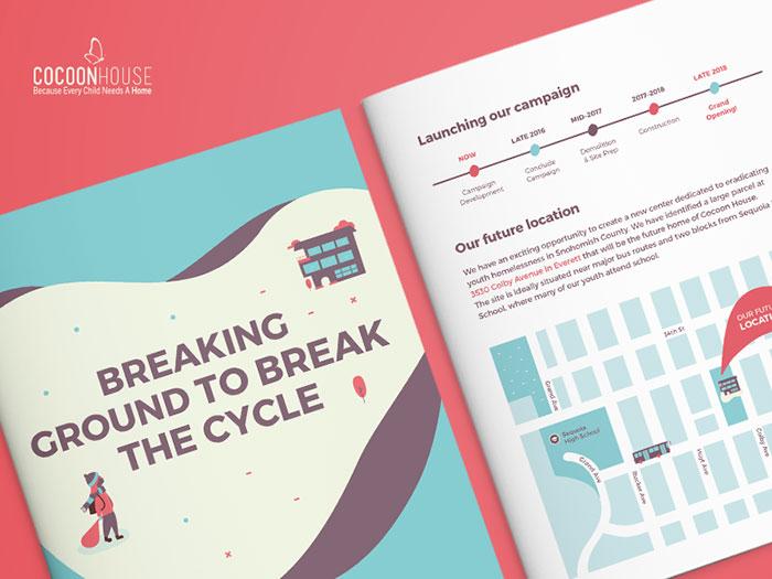 dribbble-cocoon01 Inspiración del diseño del folleto (64 ejemplos del folleto moderno)