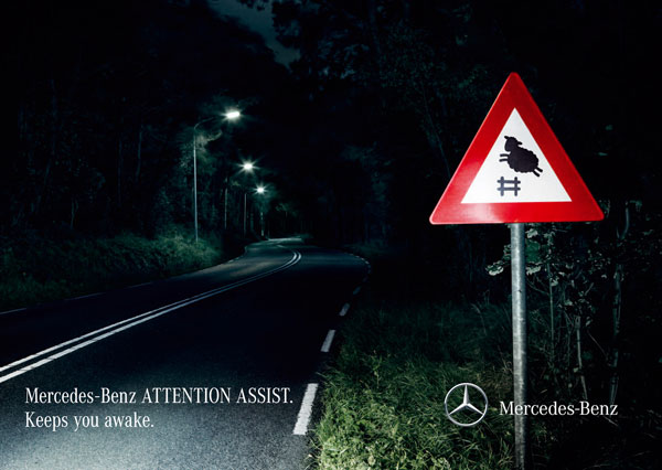 mercedesbenz_attention_assist Advertisement Ideas: 500 anuncios creativos y geniales