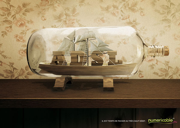 Numericable_bottle Advertisement Ideas: 500 anuncios creativos y geniales