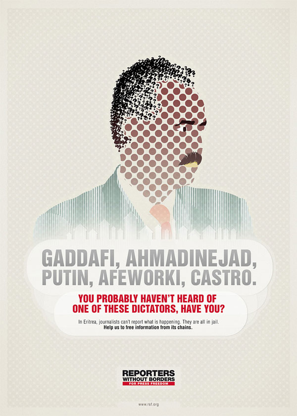 reporters_without_borders_dictators 500 Creative And Cool Advertisement Ideas