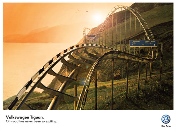 volkswagen_roller_coaster 500 Creative And Cool Advertisement Ideas