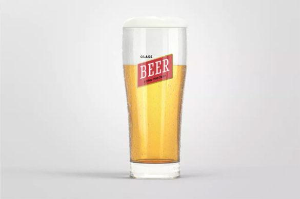 Beer-Glass-Logo Plantillas de maquetas de logotipos para descargar y usar para presentar sus logotipos