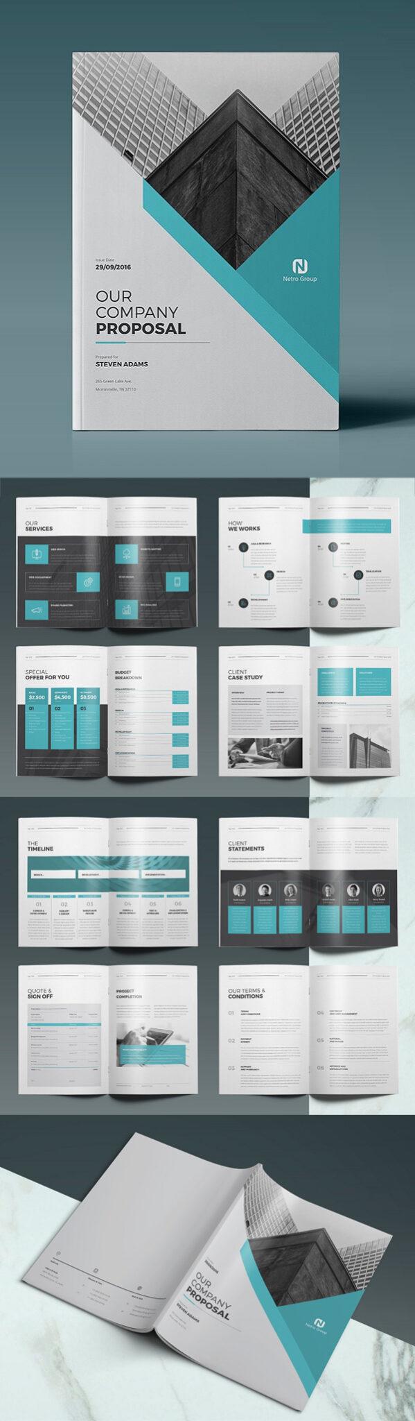 Diseño de mockups de propuesta de negocio profesional - 4