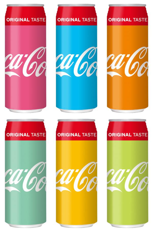 Nuevos colores en envases de Coca cola