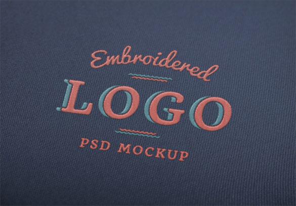 Plantillas de maquetas con logotipos bordados con logotipos para descargar y usar para presentar sus logotipos