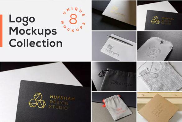 Logo-Mockups-Collection-Vol Plantillas de maquetas de logotipos para descargar y usar para presentar sus logotipos