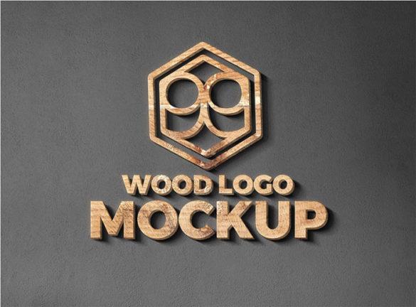 Plantillas de maquetas de logotipo de Wood-And-Metal-Cut-Logo-Moc para descargar y utilizar para presentar sus logotipos