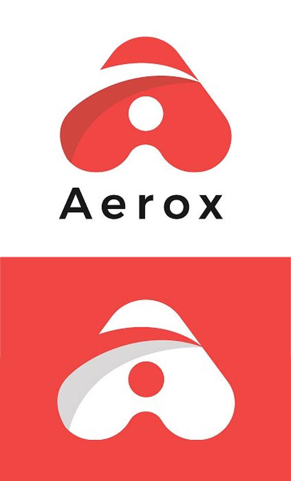 plantillas de logotipos, Aerox Letter A Minimal Logo