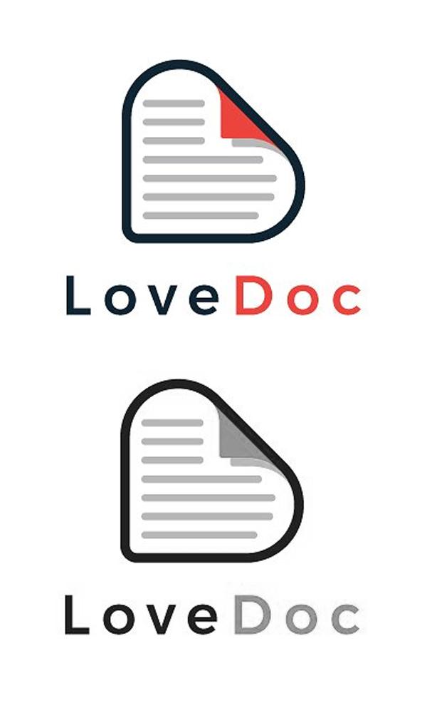 plantillas de logotipos, Love Doc Minimal Logotipo