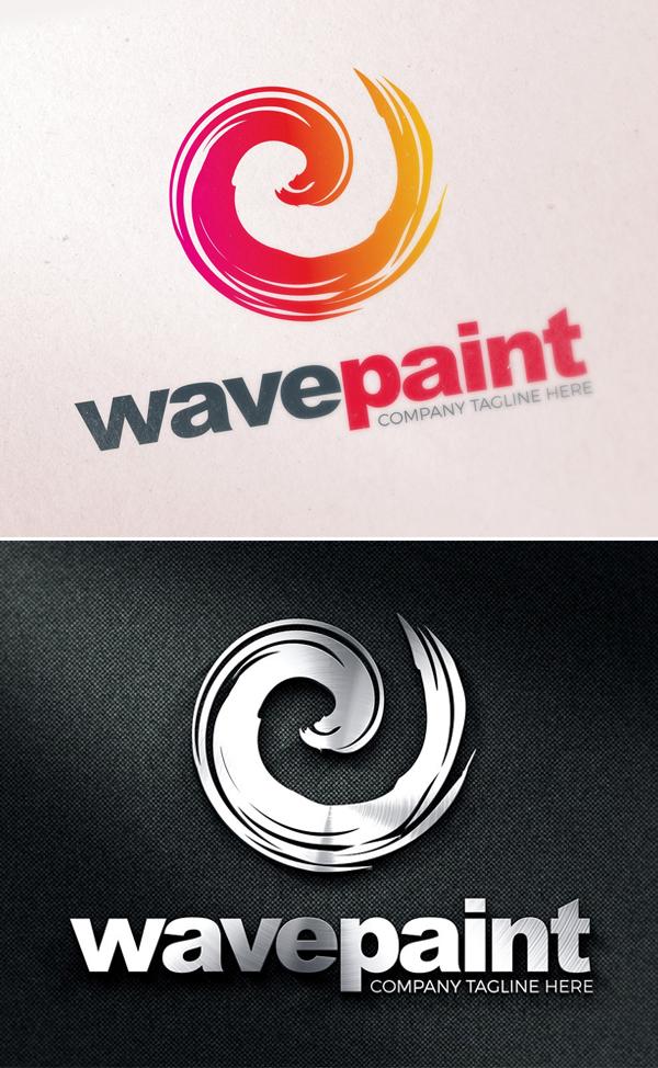 plantillas de logotipos, Plantilla de logotipo de pincel de color