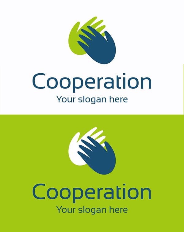plantillas de logotipos, Logo de cooperación