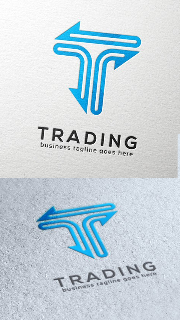 Trading Letter T Logotipo