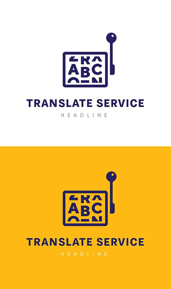 Traducir servicio logotipo