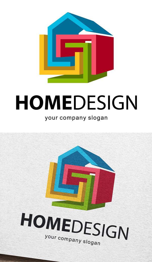 plantillas de logotipos, Home Design Logotipo