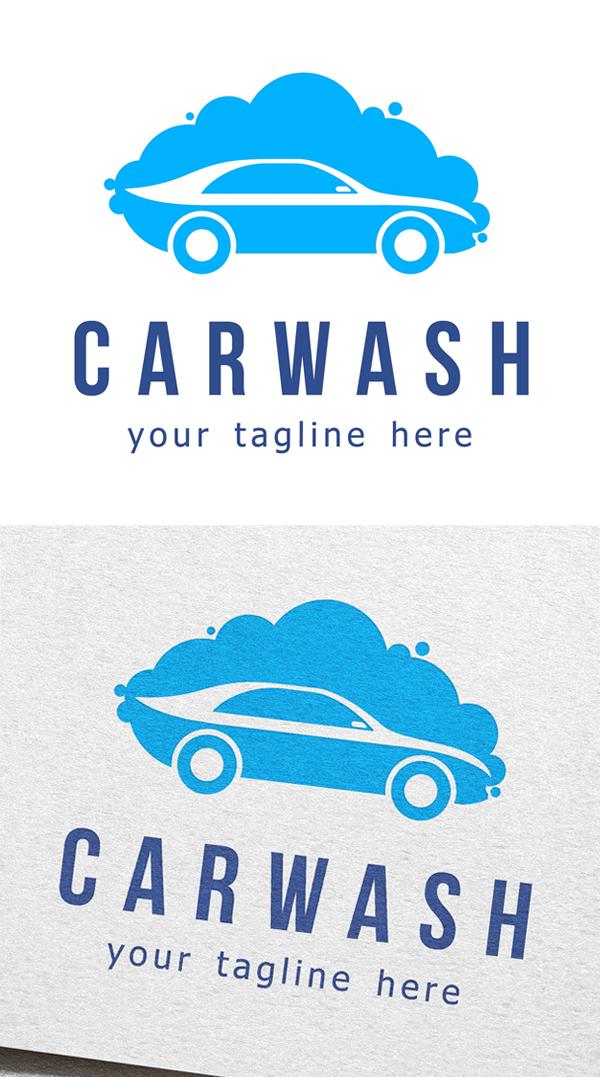 plantillas de logotipos, Logotipo de lavado de coches