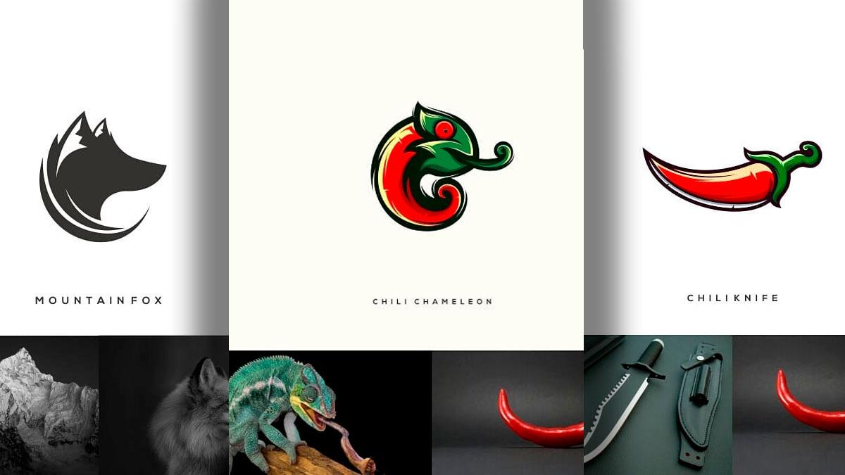 logos combinando 2 elementos