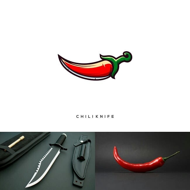 Logos made by combining two different things - 11