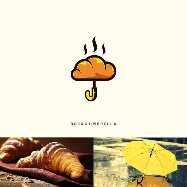 Logos made by combining two different things - 14