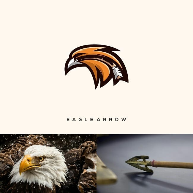 Logos made by combining two different things - 15